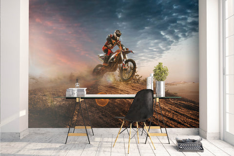 3D Motorcycle Extreme Sports Wall Mural Wallpaper 68