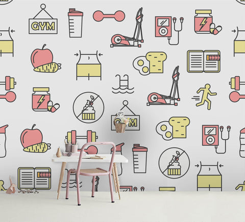 3D Cartoon Pattern Wall Mural Wallpaper 42
