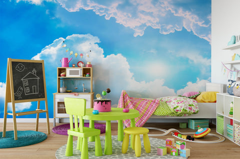 3D Blue Sky White Cloud Wall Mural Wallpaper 117