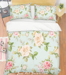 3D Chinese Rose Quilt Cover Set Bedding Set Pillowcases  41