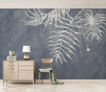 3D White Painted Leaves 255 Wallpaper Jess Art Decoration 2