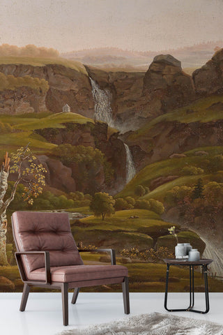 3D mountain stream oil painting wall mural wallpaper 96