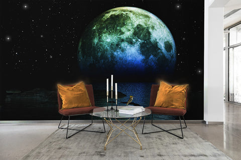 3D Planet Universe Wall Mural Wallpaper 57