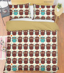 3D Hand Drawn Animal Owl Quilt Cover Set Bedding Set Duvet Cover Pillowcases 92