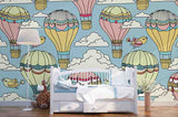 3D Hot Air Balloon Birds Wall Mural Wallpaper SF93