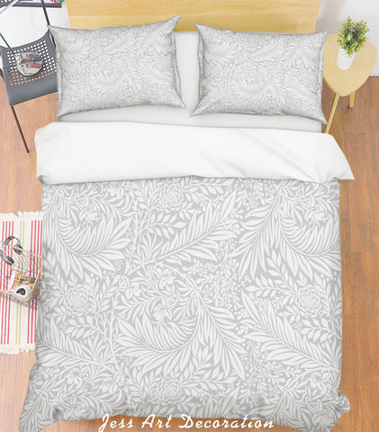 3D Plant Leaf Pattern Quilt Cover Set Bedding Set Pillowcases  52