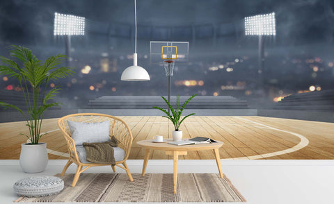 3D Basketball Court Wall Mural Wallpaper 54
