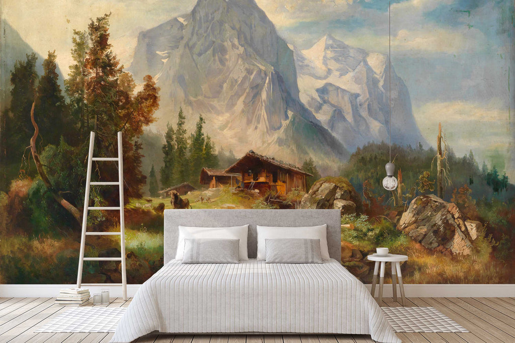 3d Mountain Landscape Oil Painting Wall Mural Wallpaper 29