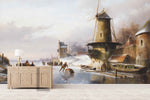 3D Nordic Winter Oil Painting Wall Mural Wallpaper 15
