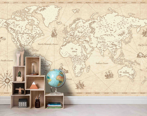 3D World Map Wall Mural Wallpaper 19