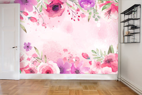 3D Watercolor Floral Wall Mural Wallpaper 48