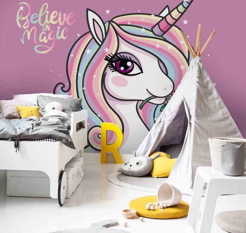 3D Unicorn Wall Mural Wallpaper 80