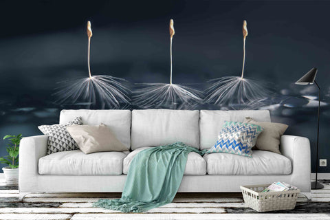 3D dandelion seed wall mural wallpaper 30
