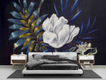 3D Floral Flower  Leaves Oil Pianting Mural Wallpaper WJ 1308