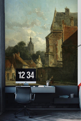 3D Nordic Landscape Oil Painting Wall Mural Wallpaper 85