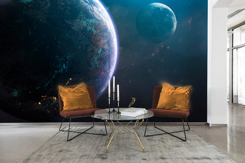 3D Planet Universe Wall Mural Wallpaper 4