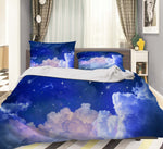 3D Blue Sky White Cloud Quilt Cover Set Bedding Set Pillowcases 16