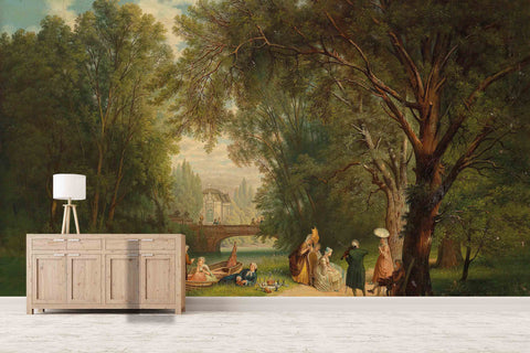 3D picnic oil painting wall mural wallpaper 76