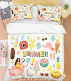 3D Summer Amorous Feelings Quilt Cover Set Bedding Set Pillowcases 114