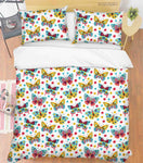3D Hand Drawn Animal Color Butterfly Quilt Cover Set Bedding Set Duvet Cover Pillowcases 83