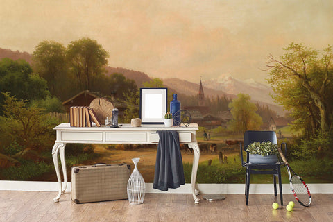3D Nordic Style Oil Painting Wall Mural Wallpaper 18