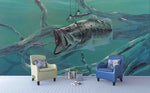 3D Realistic Sea Swimming Fish Wall Mural Wallpaper LXL 1662