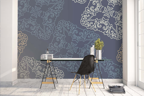 3D Gray Pattern Wall Mural Wallpaper 61