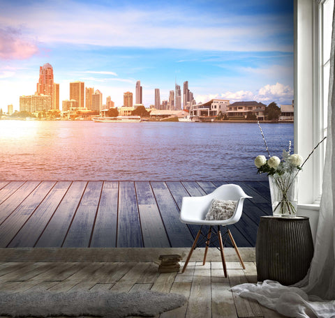 3D Urban Dusk Wall Mural Wallpaper 101