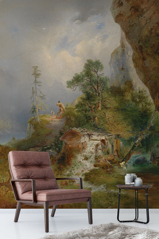 3D nordic country oil painting wall mural wallpaper 97