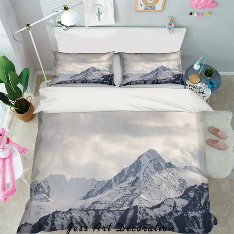 3D Snow Mountain Quilt Cover Set Bedding Set Pillowcases 65