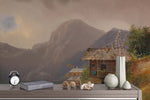 3D mountain cottage oil painting wall mural wallpaper 82