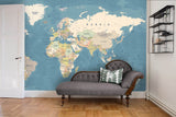3D Detail World Map Wall Ship Mural Wallpaper 22 - Jessartdecoration