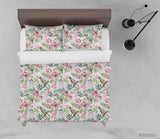 3D Hand Drawn Floral Leaf Bird Quilt Cover Set Bedding Set Duvet Cover Pillowcases 82