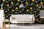 3D Hand Sketching Floral Leaves Plant Wall Mural Wallpaper LXL 1298