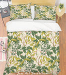 3D Green Leaves Quilt Cover Set Bedding Set Pillowcases 124