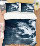 3D White Smoke Quilt Cover Set Bedding Set Pillowcases 186