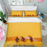 3D Camera Roll Yellow Quilt Cover Set Bedding Set Pillowcases 84