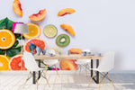 3D kiwi fruit lemon orange wall mural wallpaper 83