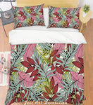 3D Pink Leaves Quilt Cover Set Bedding Set Pillowcases 159