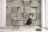 3D gray cube dislocation weave wall mural wallpaper 52