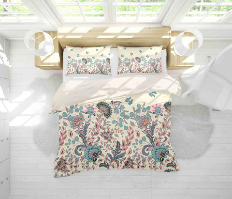 3D Blue Leaves Flowers Quilt Cover Set Bedding Set Pillowcases 61