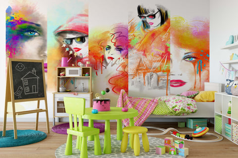3D Woman Pattern Wall Mural Wallpaper 12