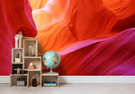 3D Abstract Red Valley Mountains Wall Mural Wallpaper 04