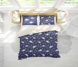 3D Blue Cartoon Fish Quilt Cover Set Bedding Set Pillowcases 20