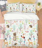 3D Cartoon Forest Animal Quilt Cover Set Bedding Set Pillowcases  4