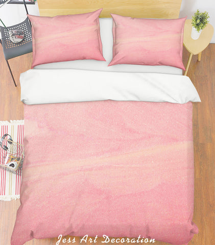 3D Dreamy Pink Quilt Cover Set Bedding Set Pillowcases 11