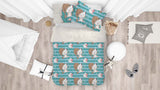 3D Blue Stripes Cat Kitty Quilt Cover Set Bedding Set Pillowcases 46
