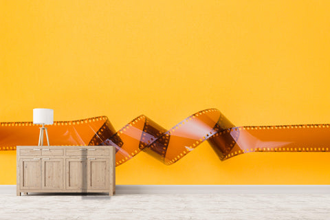 3D film strip wall mural wallpaper 91