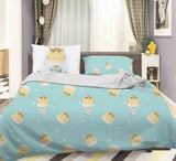 3D Blue Giraffe Reading Book Star Quilt Cover Set Bedding Set Pillowcases 56