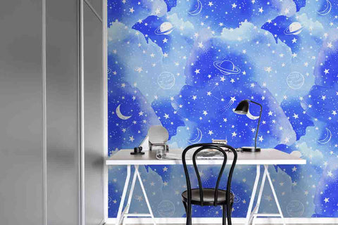 3D Nebula Universe Planet Star Wall Mural Wallpaper 103
